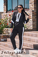 Большой спортивный костюм черный с белым, фото 1