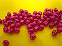 Намистинки . Жемчуг рожевий  8 мм   (20 грам =85 шт)