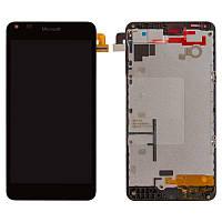 Дисплей для Microsoft (Nokia) Lumia 640 (RM-1072, RM-1077), модуль (экран и сенсор), с рамкой, оригинал