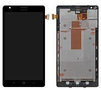 Дисплейный модуль (экран и сенсор) для Nokia Lumia 1520 (RM-938), с рамкой, оригинал