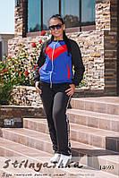 Большой спортивный костюм черный с индиго, фото 1