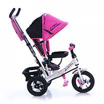 Детский трехколесный велосипед Azimut AIR Lambortrike розово-белый надувные колеса, фото 2
