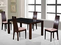 Стол обеденный стеклянный Silvano Signal венге/черный