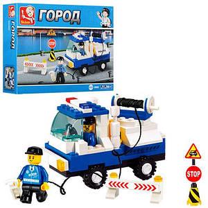 Конструктор SLUBAN M38-B900 (72шт) город, полицейская машина, фигурки, 94дет, в кор-ке, 19-14-4,5 см
