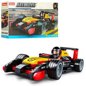 Конструктор SLUBAN M38-B0677 (72шт) гоночная машина, фигурка, 120дет, в кор-ке, 24-14-4,5см