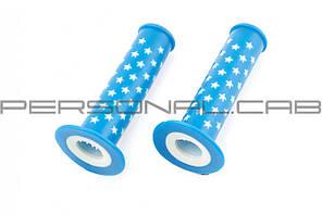 Ручки руля велосипедные   (синяя,звезды)   (mod:4)   YKX
