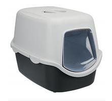 Туалет Trixie Vico Litter Tray для кішок закритий, 40х40х56 см графітовий/світло-сірий