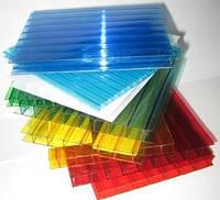 Полікарбонат Italon 4мм прозорий, бронза, опал, червоний, синій, зелений 2.10х6м