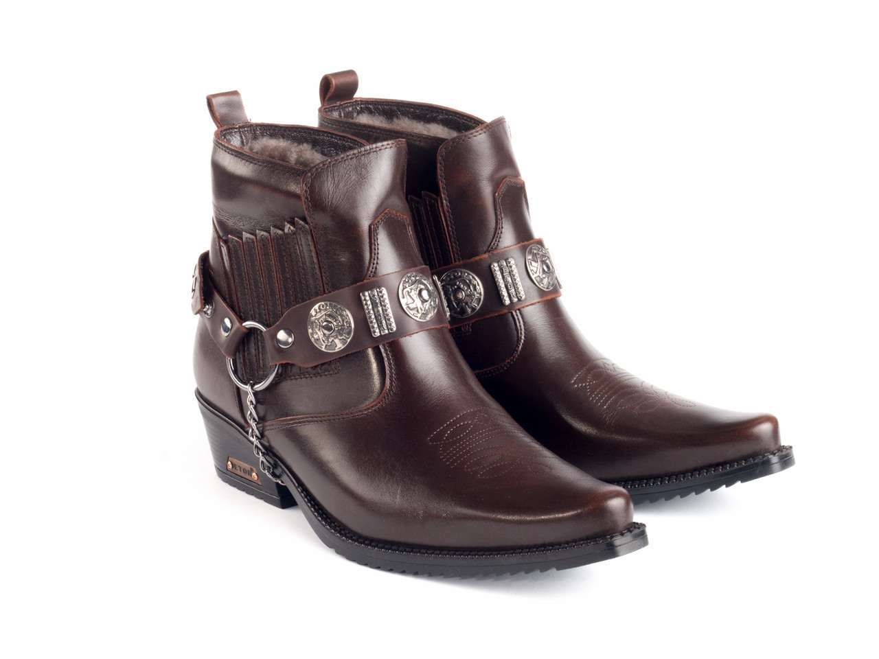 Казаки Etor 63-008-8041-2 44 коричневые
