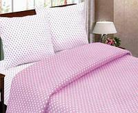 """Комплект постельного белья (двушка) ТМ """"Ловец снов"""", Горошек розовый"""