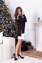 """Трикотажное комбинированное мини-платье """"PITON"""" с длинным рукавом (2 цвета), фото 2"""