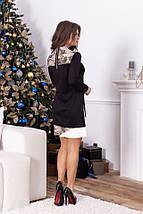 """Трикотажное комбинированное мини-платье """"PITON"""" с длинным рукавом (2 цвета), фото 3"""
