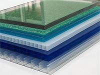 Полікарбонат Italon 8мм прозорий, бронза, опал, червоний, синій, зелений 2.10х6м