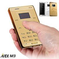 Сенсорный ультратонкий мобильный телефон AIEK М3 на 1 сим карту. Цвет: золотой.