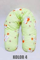 Подушка для беременных для кормления ребенка хлопковая (полистироловые шарики) WOMAR (164 х 70 см)