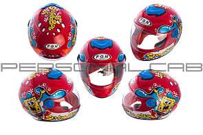Шлем детский интеграл   (красный)   (SPONGE BOB)   FGN