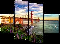 Модульная картина Interno Холст Вид на мост 166x123см (R490XL)