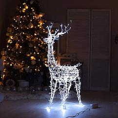 Гирлянда внешняя Adenki Олень новогодний светодиодный 124 см Белый 5-124WTITE, КОД: 258207