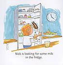 Перша англійська з Nick and Lilly. At the supermarket. Дитяча книга для вивчення англійської мови, фото 2