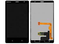 Дисплейный модуль (дисплей и сенсор) для Nokia X2 Dual Sim, оригинал