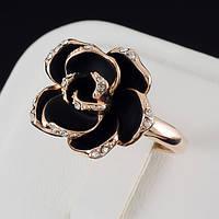 Прельстительное кольцо с кристаллами Swarovski и c позолотой 0479 18 Черный