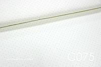 Ткань сатин Точки на ванильном ОСТАТОК 0,45 м, фото 1