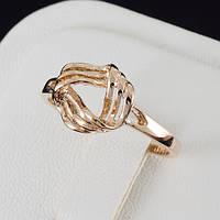 Привлекательное кольцо с золотым покрытием 0477