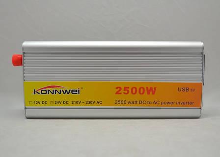Перетворювач напруги Konnwei 2500W 12DC перетворювач електрики, інвертор напруги, фото 2