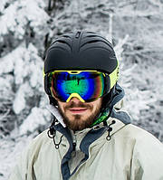 Гірськолижний шолом з  механізмом регулювання(ABS, p-p M, L, чорний матовий)