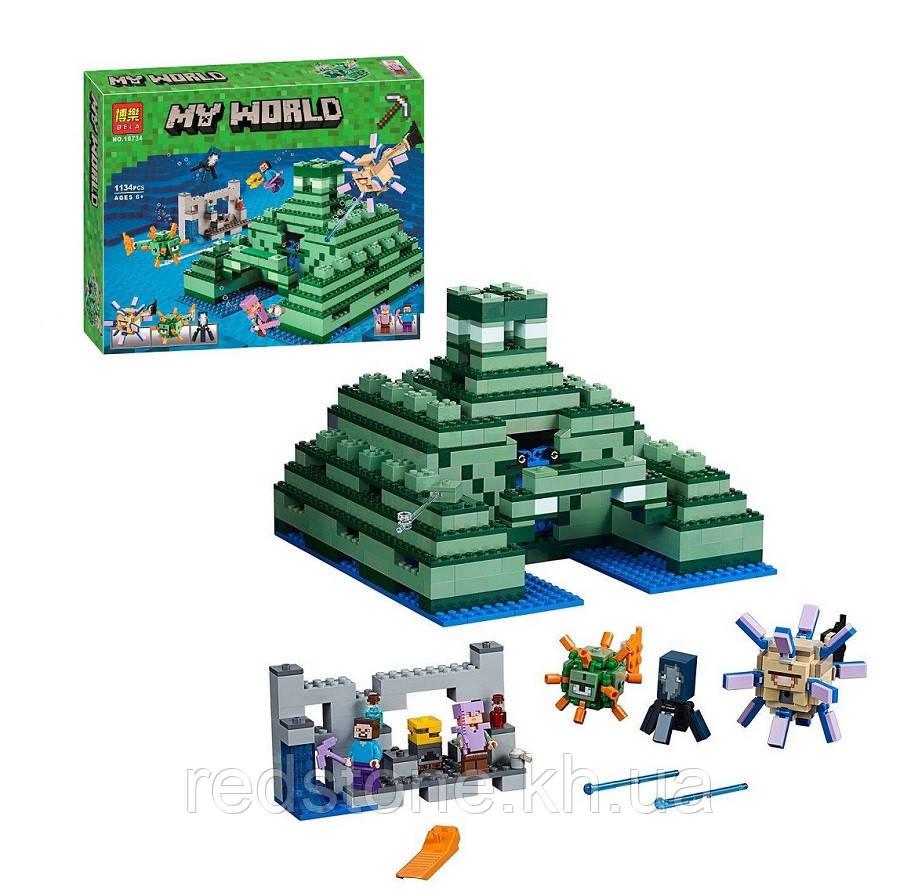 """Конструктор Bela 10734 Minecraft """"Подводная крепость"""" 1134 деталей"""