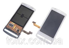 Дисплейный модуль (дисплей и сенсор) для Nokia 700, RM-670, белый, оригинал