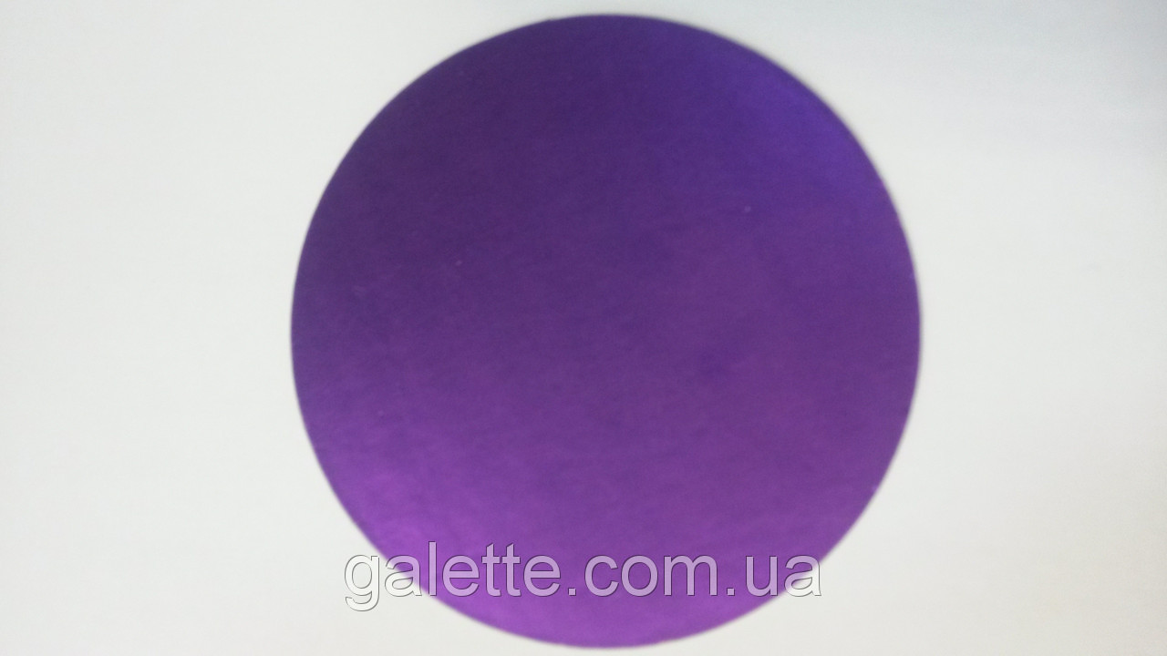 Подложка под торт круглая d12(сиреневая)(код 03882)