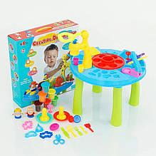 KM8838M Набор для творчества 8838  столик, формы,пластилин, в коробке 45*45*12 см