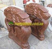 Бетонные ножки стойки скамейки лавки львы для лавочки уличной садовой в парк или двор.