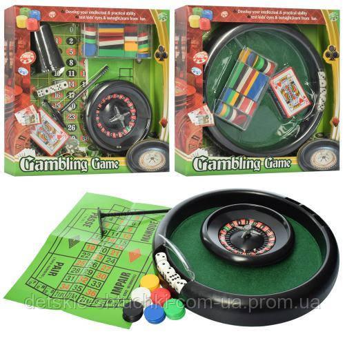 Настольная игра 88150FIL.покер, фишки, карты,кубики, 3в(2в-рулетка), в кор-ке