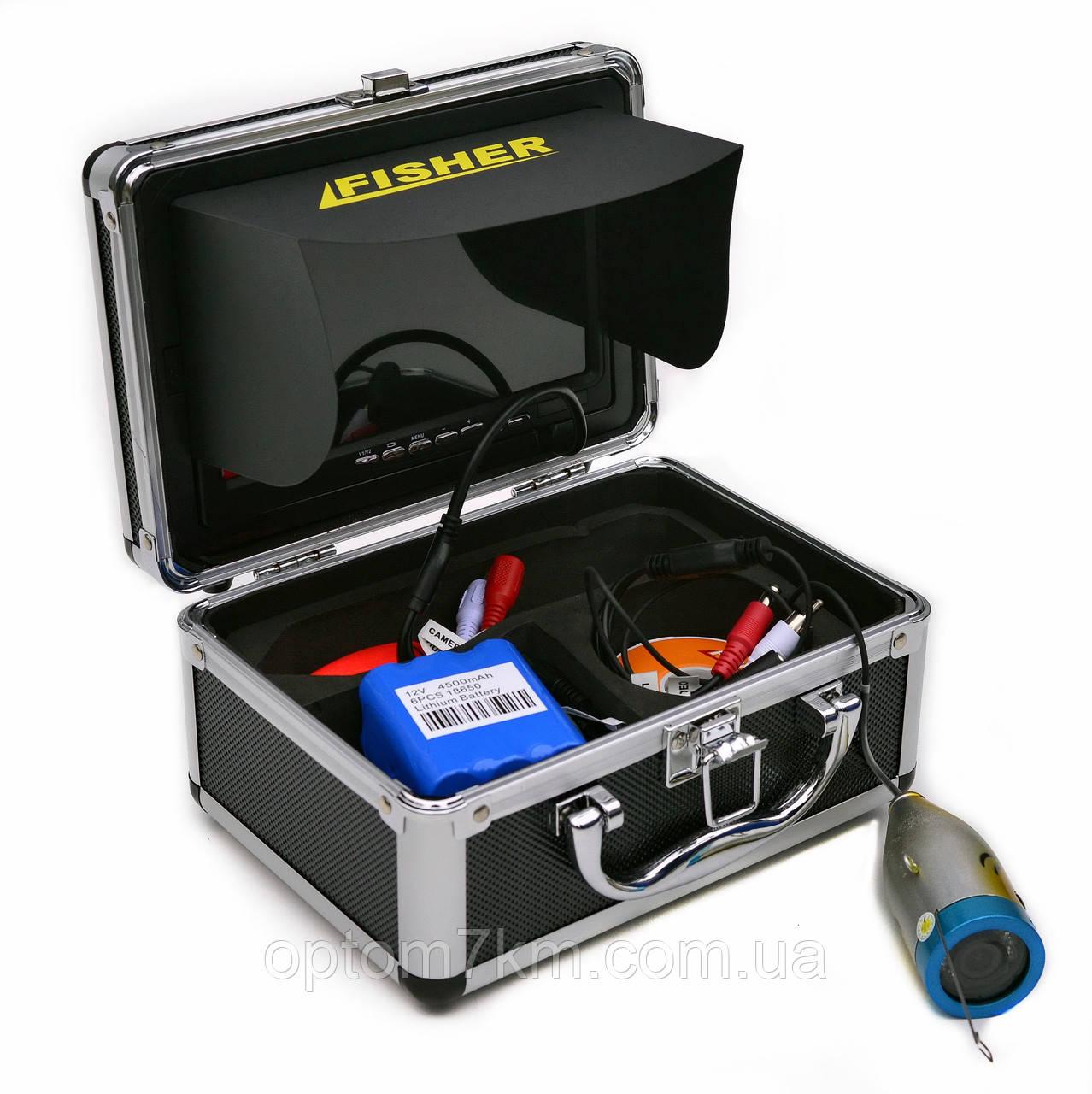 Подводная камера Fisher CR110-7S кабель 15м с подключением LED