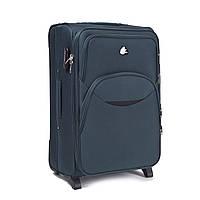 Большой тканевый чемодан Wings 1708 на 2 колесах зеленый