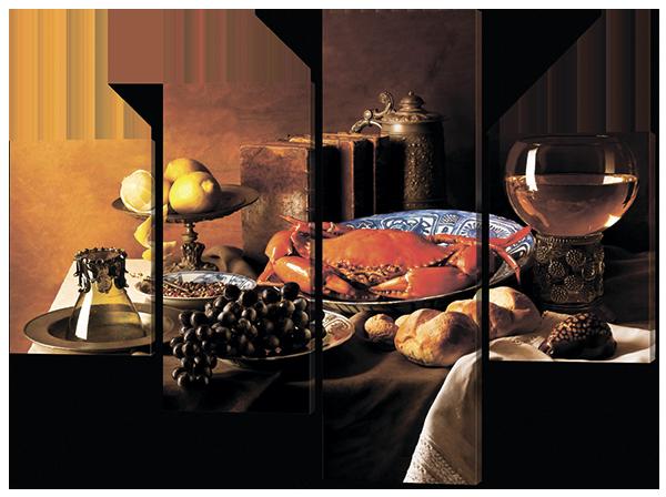 Модульная картина Interno Эко кожа Натюрморт с крабом 166x123см (A553XL)