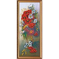 """Набор для вышивания бисером на холсте АбрисАрт """"Полевые цветы"""" АВ-001"""