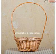 Корзина плетеная для подарков и цветов с большой ручкой, фото 1