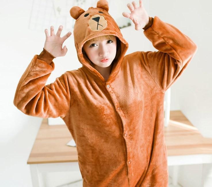 Пижама Кигуруми Мишка бурый на детей и взрослых fe870fecaa28d