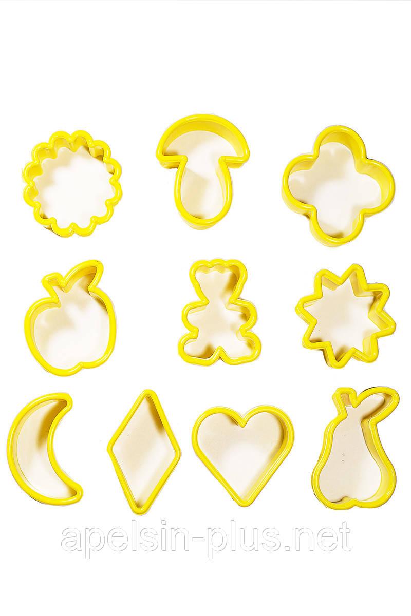 """Вырубка пластиковая """"Веселые печеньки"""" набор из 10 форм"""