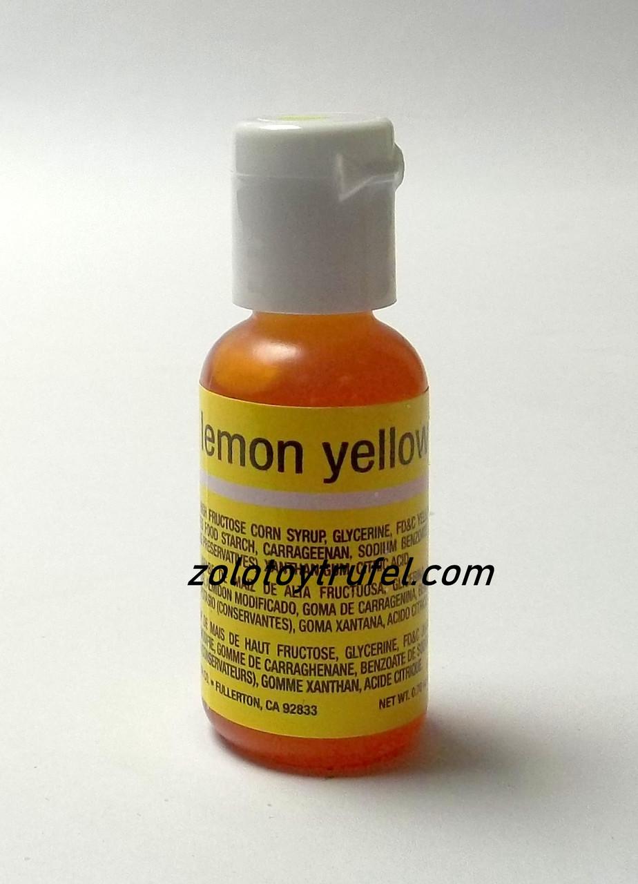 "Краситель гелевый ""Lemon Yellow 20 мл"",Chefmaster"