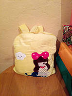 Детский плюшевый плед рюкзак