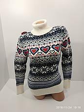 Вязаные женские шерстяные свитера оптом и в розницу G 4477, фото 2