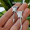Гітара срібний кулон - Срібна підвіска Гітара - Подарунок Музикантові, фото 3