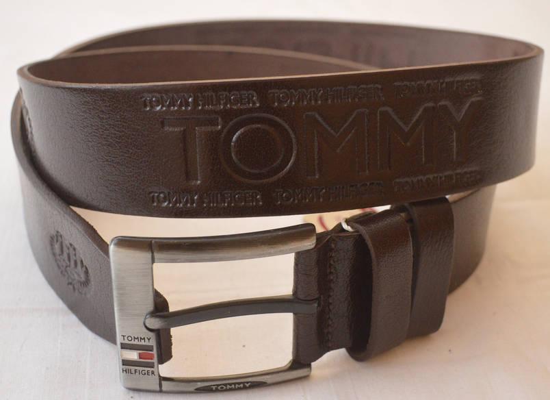 Кожаный мужской ремень Tommy Hilfiger (копия), фото 2