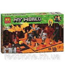 Конструктор Bela 10963 Minecraft Напад в нижньому світі 215 деталей