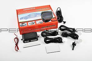 Парктроник   mod:LH-813B   (датчики белые 4шт, LCD, штурман, монтажный комплект)   KAMEILONG