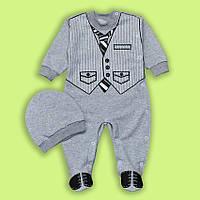 Новинка Комбинезон детский для мальчика Пижон (начес) на 68 4200514574613